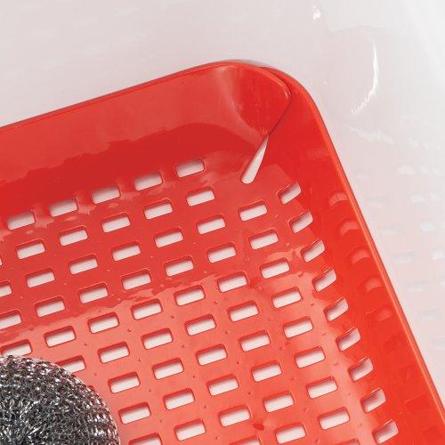Interdesign Contour Kitchen Sink Protector Mat Red Home