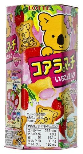 Lotte Koala'S March Strawberry & Milk Cream Cookies - Travel Size (Japanese Import)