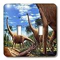 3dRose LLC lsp_1008_2 Dinosaur Brachiosaurus, Double Toggle Switch