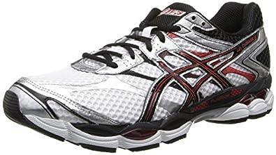 ASICS Men's Gel-Cumulus 16 Running Shoe,White/Black/Red,6 M US