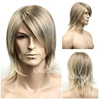 SureWells Medium style Straight Men Wig,Golden Blonde color from Roxy Display