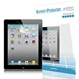 iPad Screen Protector, amFilm Premium Anti-Glare/Anti-Fingerprint Screen Proctor for Apple iPad 4/3/2 and Retina Display (2-Pack) [Lifetime Warranty]