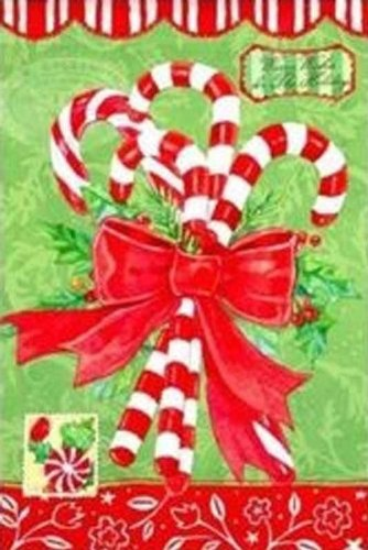 Holiday Candy Canes Decorative Garden Flag