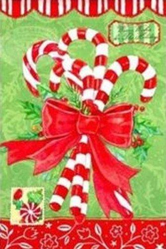 Holiday Candy Canes Decorative Garden Flag