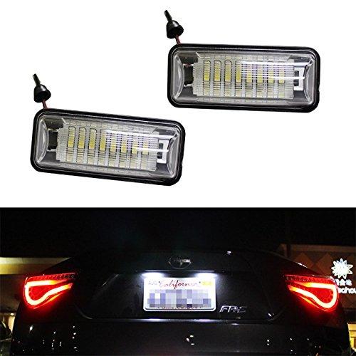 Ijdmtoy Super Bright 24-Smd Oem Replacement Led License Plate Light Lamps For Scion Fr-S Subaru Brz Impreza Wrx Sti Legacy Crosstrek, Etc
