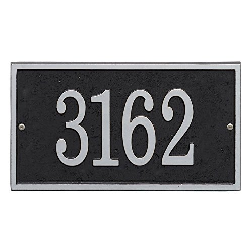 personalized cast metal rectangle house number custom. Black Bedroom Furniture Sets. Home Design Ideas