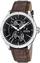 Comprar Festina F16573/4 - Reloj analógico de cuarzo para hombre con correa de piel, color marrón