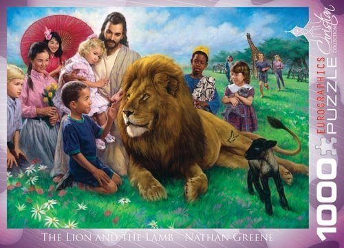eurographics-the-lion-and-the-lamb-by-nathan-greene-1000-piece-puzzle-by-eurographics
