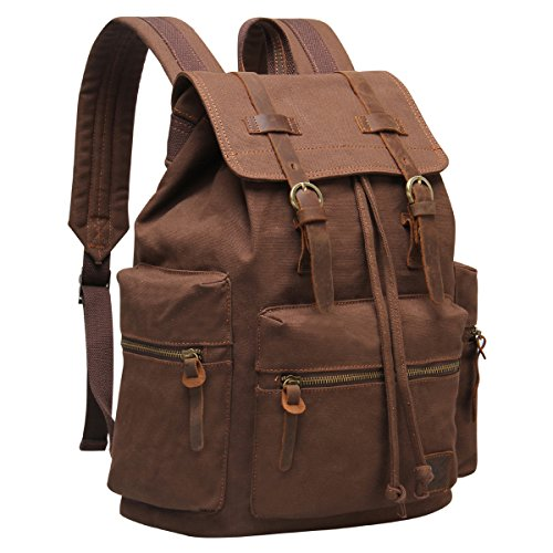 Hynes-Eagle-Vintage-Canvas-Leather-Backpack-Rucksack-19-Liter