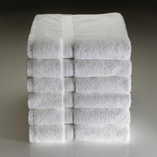 48 new white 1888 mills dependability 12x12 hotel spa resort washcloths