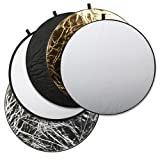 Square Perfect 2811 SP-43 Professional Quality 43-Inch 5-In-1 Light Multi Collapsible Photo Disc Reflector