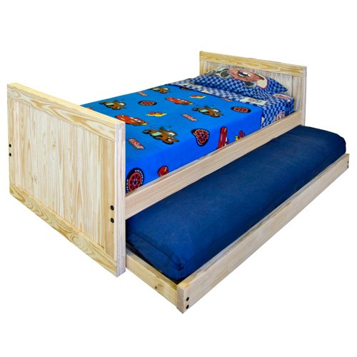 Kids captains bed twin size tall headboard and for Cheap wooden headboards