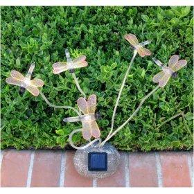 decorative garden dragonflies solar lights outdoor figurine lights