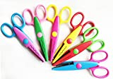 "Elife 5 Inch Length Creative Scissors School Smart Paper Decorative Wave Lace Edge Scissors - Set of 6 - Assorted Colors for scrapbook crafts and Gift Card (Pack of 6 - 5"")"