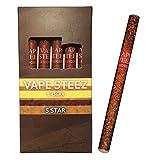 使い捨て 電子葉巻 吸引回数500回 5本セット 禁煙補助 電子タバコ VAPE STEEZ オリジナル商品 E CIGAR (マルボロブラックメンソール)