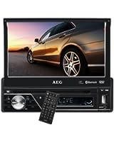 """AEG AR 4026 Autoradio Écran LCD tactile 17,5 cm (7"""") Lecteur de carte SD Port USB Noir"""