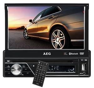 AEG AR 4026 Autoradio (DVD/CD, 17,5 cm (7 Zoll) LCD-Display, Touchscreen, SD Kartenslot, USB) schwarz