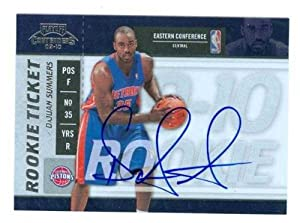 DaJuan Summers autographed Basketball Card (Detroit Pistons) 2010 Panini Rookie #130 by Autograph Warehouse
