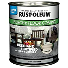 Rust-Oleum 244160 Porch Floor Paint, Dove Gray Satin, 1-Quart