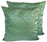 CushionArt Interra 18x18in Throw Pillow Cushion Cover - Green - Set of 2
