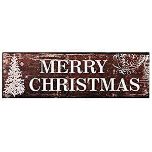 Edeco decorative wood sign plaque home wall for Christmas wall art amazon