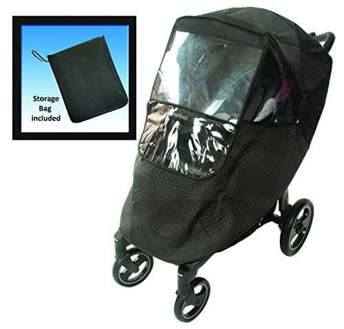 Comfy Baby Universal Insulated Stroller Weather Protector - black, one size - 1
