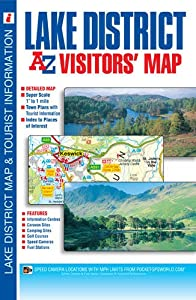 Lake District Visitors Map (A-Z Visitors Map) by Geographers A-Z Map Co Ltd