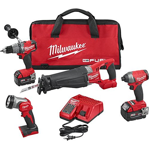 Milwaukee 2896-24 M18 Fuel 4-tool Combo Kit (Milwaukee Tools Fuel Kit compare prices)