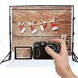 DODOING Vinyl Photo Photography Backdrops Christmas Red Hat Studio Background Studio Props 3x5ft