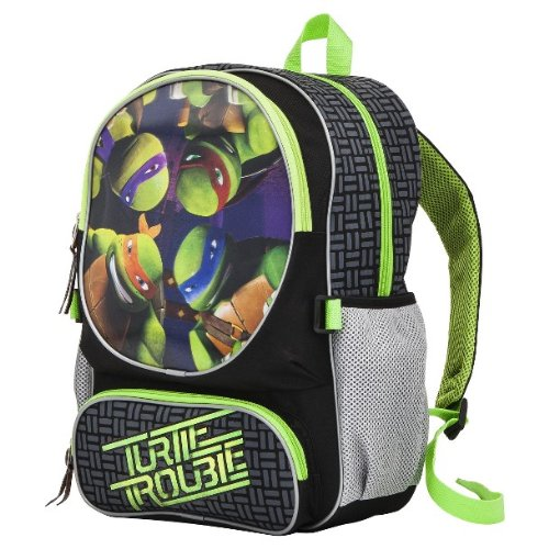 "Teenage Mutant Ninja Turtle Trouble 16"" 3D Backpack"