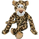 Multipet Swingin Safari Leopard Plush Dog Toy with Extra Long Arms and Legs with Squeakers, 22-Inch