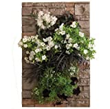Bright Green BG-MM8SS Grovert Living Wall Planter with Frame Kit, 16 by 24 by 5-Inch, Stacked Stone