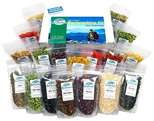 Harmony House Foods, The Backpacking Kit (18 Count, 1 Cup Zip Pouches) - Set of 2 (Organic Freeze Dried Carrots compare prices)