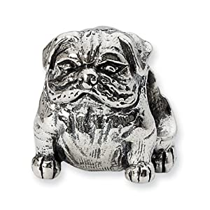 Sterling Silver Reflections Bulldog Bead