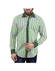 Tag & Trend Men's Slim Fit Casual And Party Wear DARK SPRING GREEN Shirt By TRADIX INNOVATIONS
