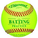 Diamond DBPY Batting Practice Baseballs (12 pack, Optic Yellow)