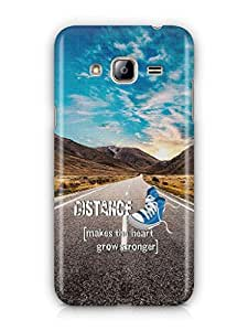 YuBingo Distance makes the Heart Grow Stronger Mobile Case Back Cover for Samsung Galaxy J3 2016
