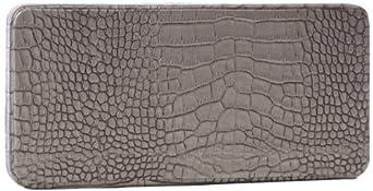 Lauren Merkin Grace OM2S327 Clutch,Pewter Metal Crocodile,One Size