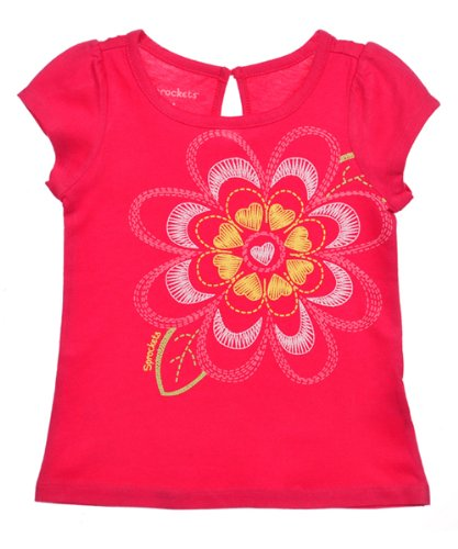 Sprockets Baby-girls Infant Flower Mix and Match Puff Sleeve Tee