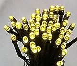 太陽発電 ソーラー 充電式 LED イルミネーション 【シャンパンゴールド・計200球】 20m 光センサー内蔵 自動ON/OFF クリスマス イルミ