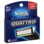 Schick Quattro Cartridges, 4 ct.
