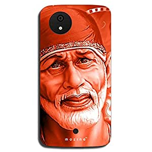 Mozine Shirdi Sai Baba Printed Mobile Back Cover For Micromax Android 1