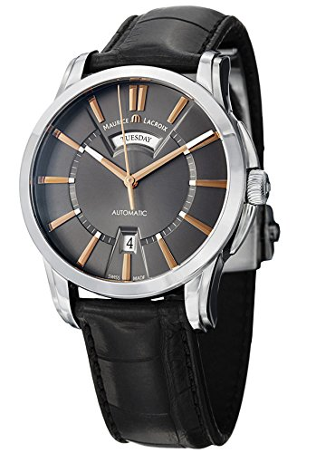 Maurice Lacroix Pontos Men'S Day Date Automatic Watch Pt6158-Ss001-03E