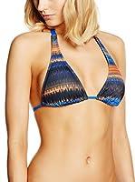 Oakley Sujetador de Bikini WAVELENGTH HALTER BRA Azul L