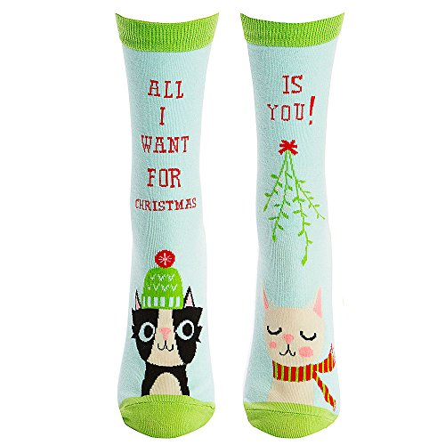 Sock It To Me Xmas Cats Womens Crew Socks