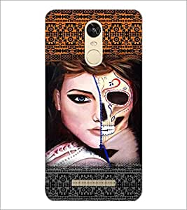PrintDhaba Ghost Girl D-5889 Back Case Cover for XIAOMI REDMI NOTE 3 (Multi-Coloured)
