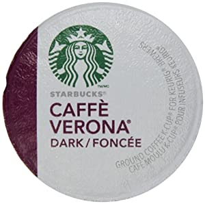 Amazon.com : Starbucks Caffe Verona, Dark, K-Cup Portion Pack for Keurig K-Cup Brewers 54-Count