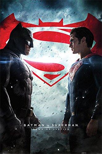 Superman Batman-Maxi Poster Showdown v, in legno, colore: multicolore