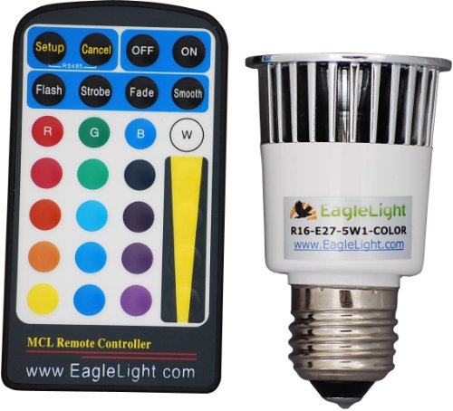 Multi-Color E27 Led Light Bulb With Remote front-42516