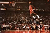 Michael Jordan Famous Foul Line Dunk Vintage Sports Poster Print - 24x36